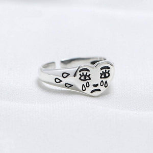 Crying Face Ring