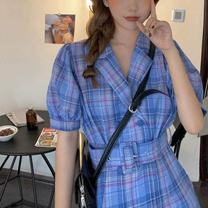 Mini Plaid Dress