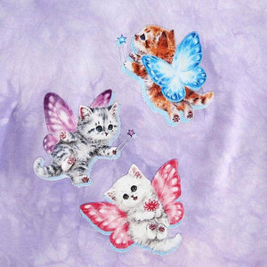 Tie Dye Kittens Crop Top