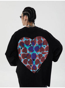Nirvana  Double-Sided Heart Long Sleeve Tee