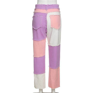 Patchwork Colorful Pants