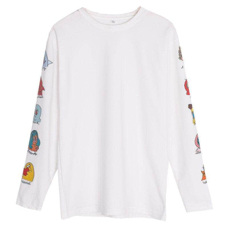 Graphical Sleeve Print Long Sleeve Tee