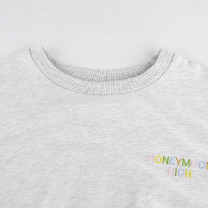 HMH Embroidery Cropped Sweatshirt
