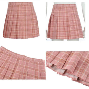 Plaid High Waist Skirts