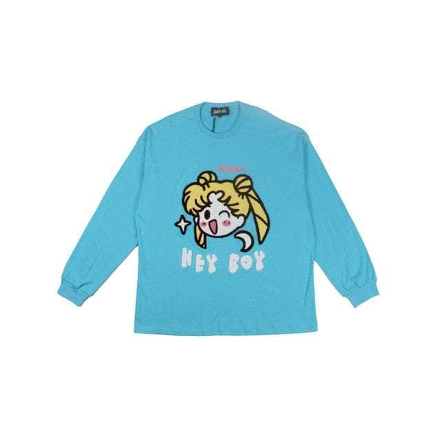 Embroidery HEYB0Y Long Sleeve Tee