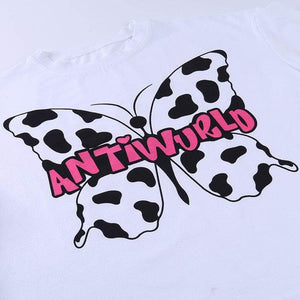 ANTIWORLD Butterfly Tee