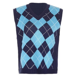 Argyle Vest Sweater