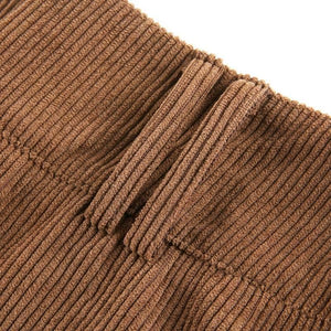 Corduroy Sheath Mini Skirt