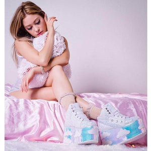 Clouds Glitter Platform Shoes XXZ