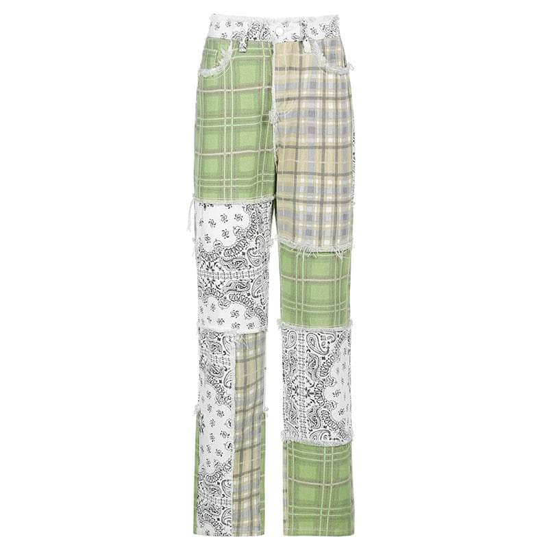 de suits THE X Patchwork Checkered Pants