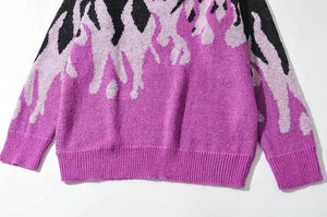 Flames Knitted Sweater