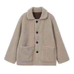 Thicken Faux Lamb Wool Coat