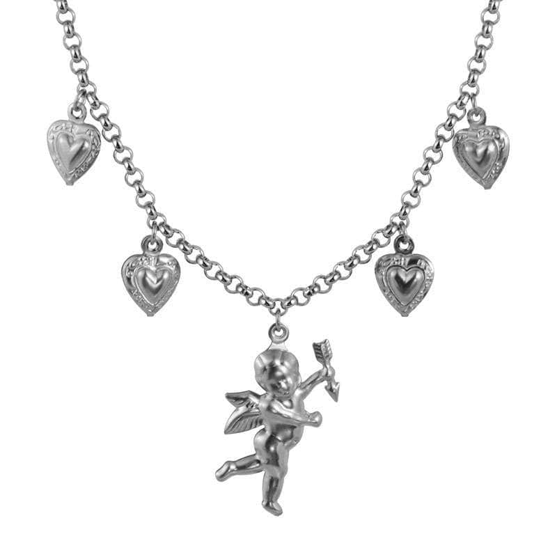 Titanium Steel Stainless Steel Love Angel Necklace