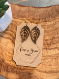 Walnut Leaf Earrings