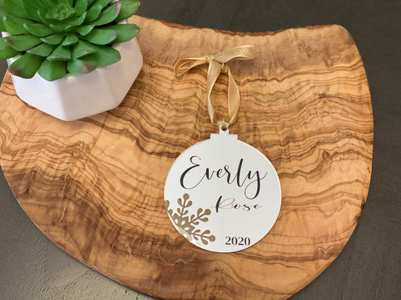 Personalized Christmas ornamental