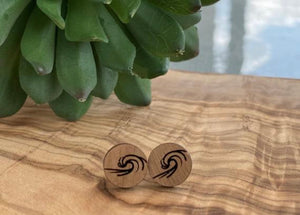 Surfer wave earrings
