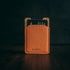 Money clip cardholder orange