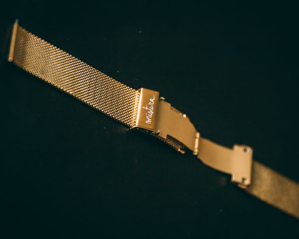 Mistura Watch / Apple Watch STRAPS  MESH GOLD