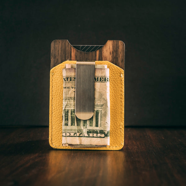 Money clip cardholder yellow