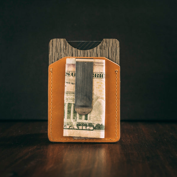Money clip cardholder honey