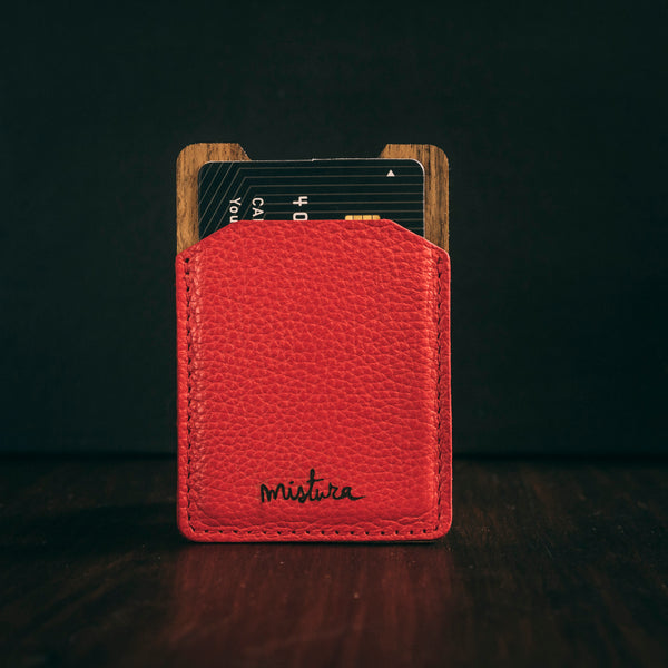 Money clip cardholder red