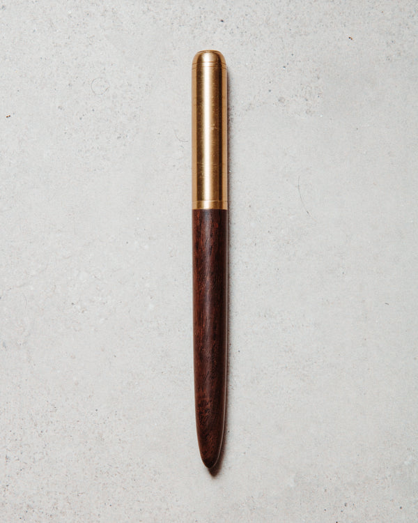 Wood brass pen