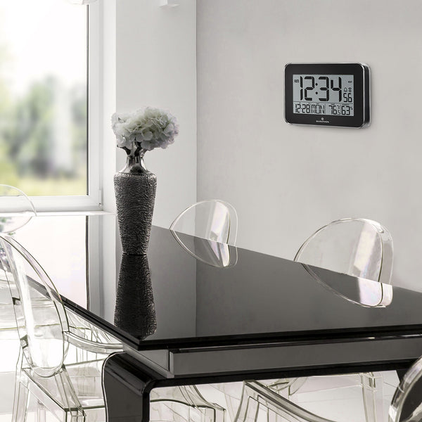 Crystal Framed Atomic Wall Clock