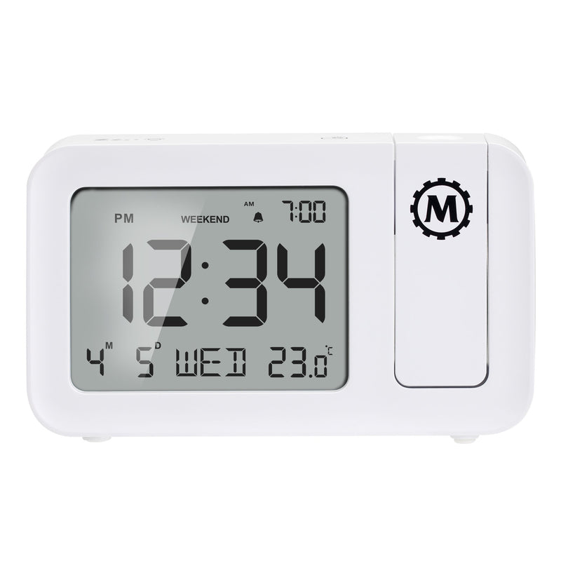 Night Owl '86 Projection Clock with Large Display and Backlight - Backup Batteries Included - marathonwatch