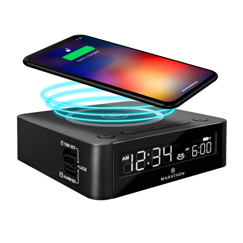 Compact Wireless Fast Dual Charging Clock
