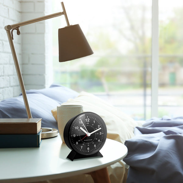 Alarm Clock With Mechanical Wind Up - Marathon Watch Company