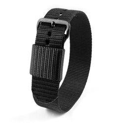 "20mm - 11"" Length - Ballistic Nylon Watch Band/Strap with Stainless Steel Buckle - marathonwatch"