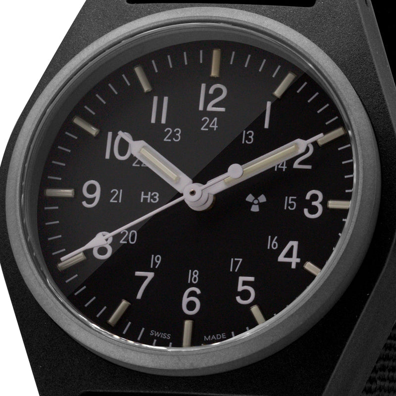 Black General Purpose Quartz (GPQ) Sterile Dial - 34mm - marathonwatch