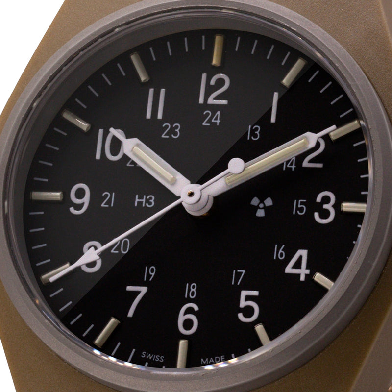 Desert Tan General Purpose Quartz (GPQ) Sterile Dial - 34mm - marathonwatch