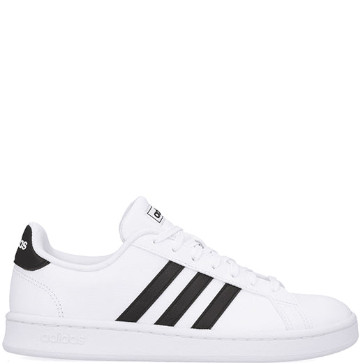 Womens Adidas Grand Court Shoes White/Black