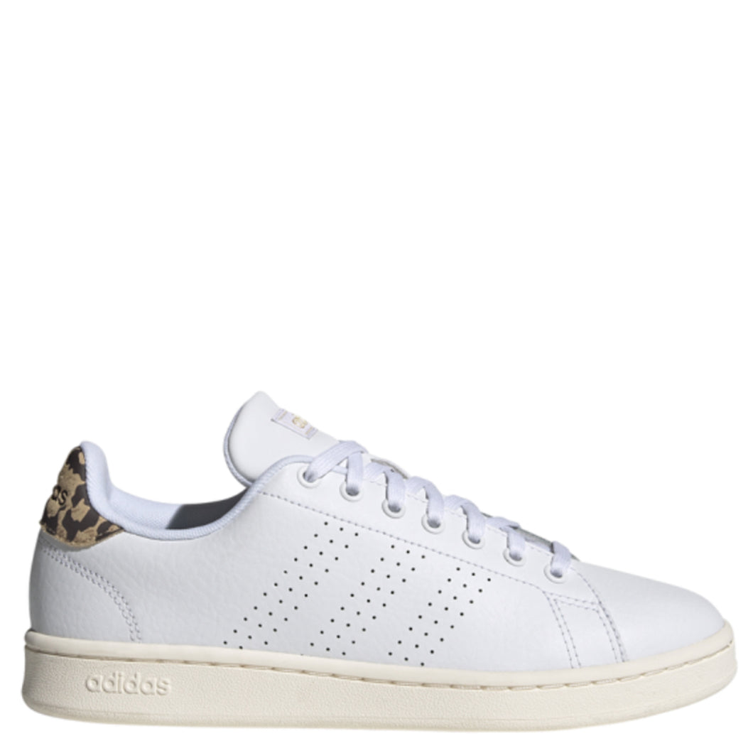 Womens Adidas Advantage White/Leopard