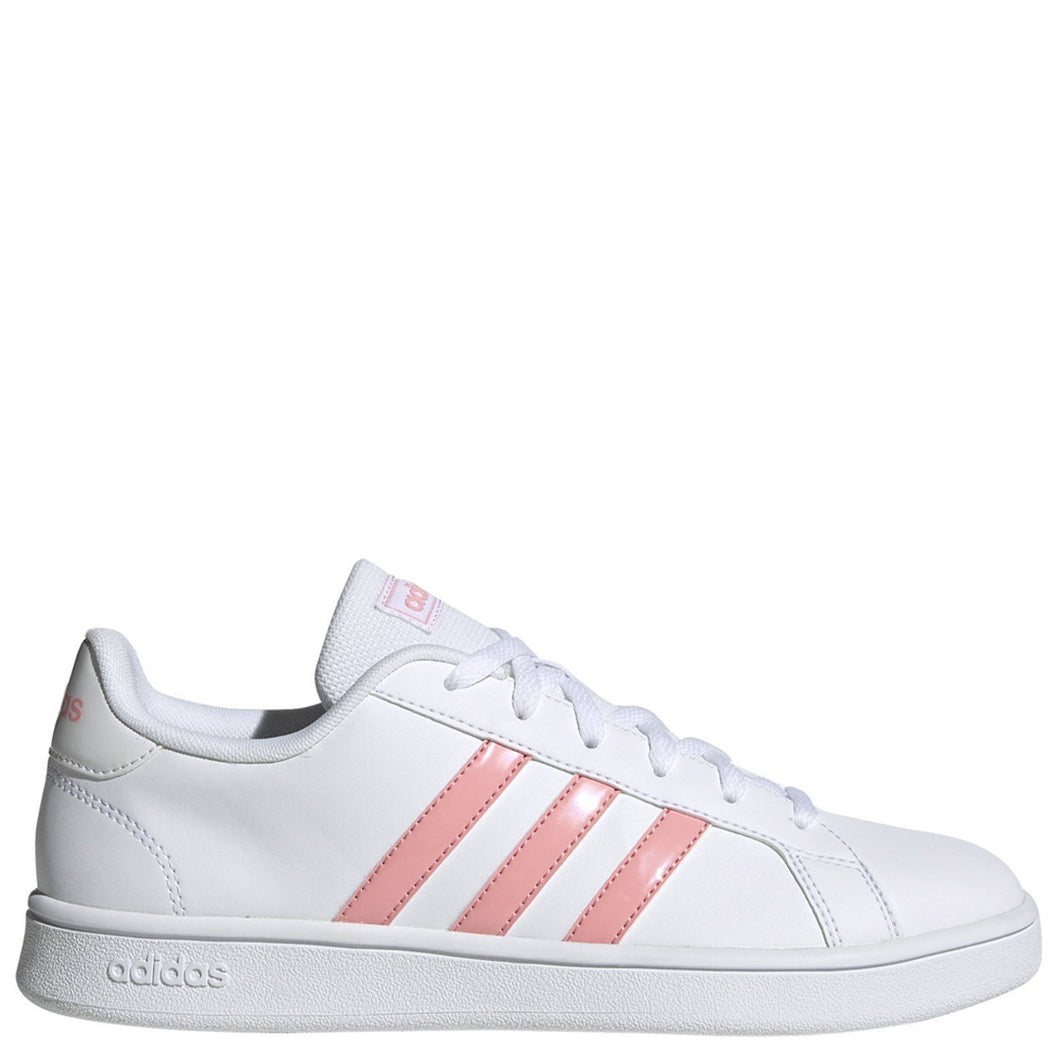 Womens Adidas Grand Court Base Cloud White/Glow Pink