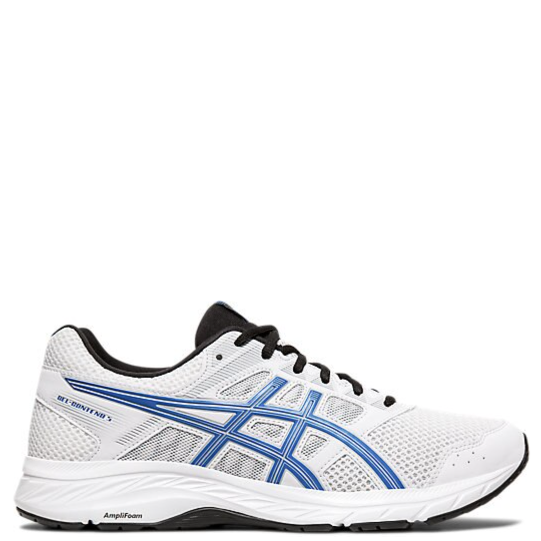 Mens Asics Gel Contend 5 White/Electric Blue