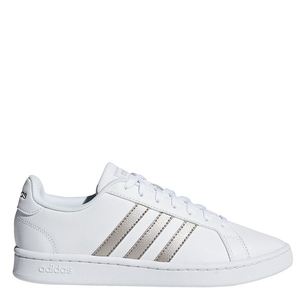 Womens Adidas Grand Court Base White/Rose Gold