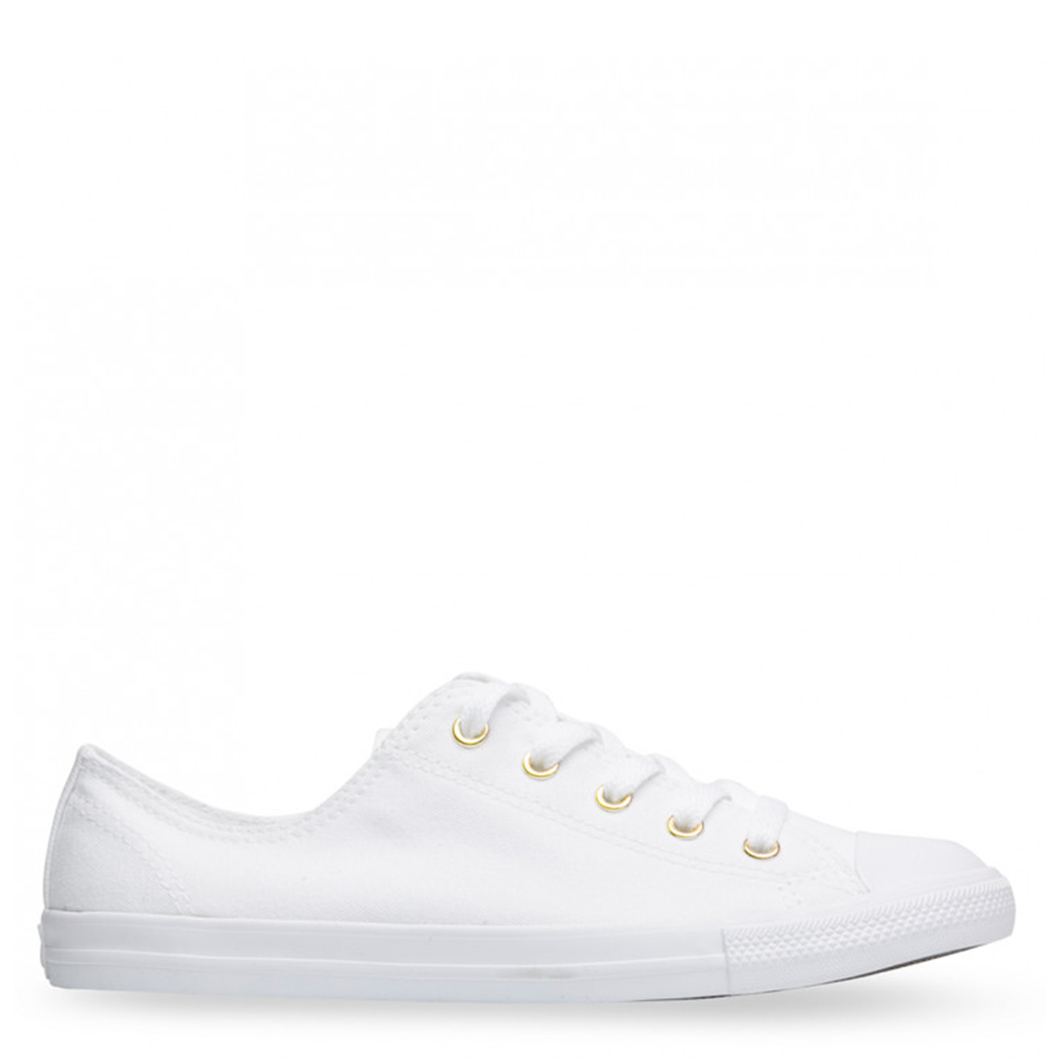 Womens Converse Dainty White/White/Gold
