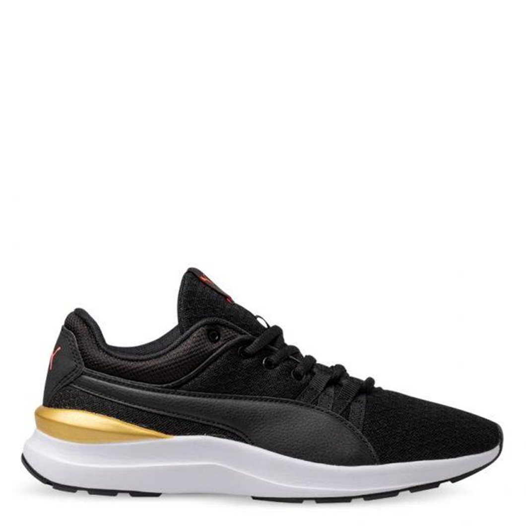 Womens Puma Adela Core Puma Black/Puma Team Gold