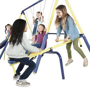 Palmview Swing Set with Teeter-Totter, Standing Swing, and Slide