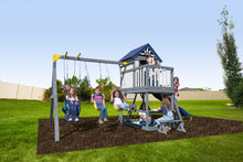 Load image into Gallery viewer, Brookside Wooden Swing Set