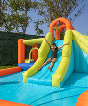 Load image into Gallery viewer, Inflatable Double Slide with Bounce House Backyard Jumper