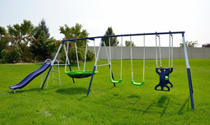 Rosemead Metal Swing and Slide Set