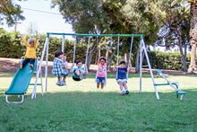 Load image into Gallery viewer, Live Oak Metal Swing and Slide Set