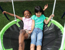 Load image into Gallery viewer, Mountain View Metal Swing, Slide and Trampoline Set