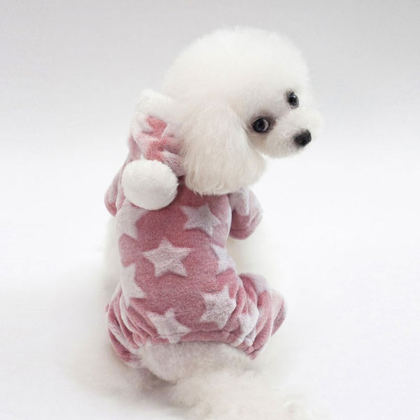star fleece dog pajamas