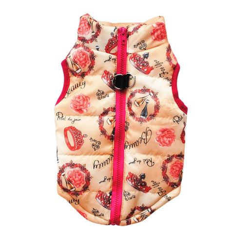 parisian rose windbreaker dog vest