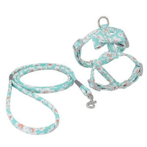 floral harness vest and leash set