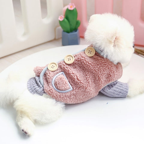 button fleece dog vest